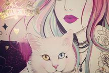 donne con gatti