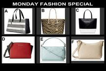 Monday Fashion Special August 4 at 10 PM / Choice Auction at OneCentChic.com of 6 beautiful designer fashion handbags. Winner gets their choice of the one they want to add to their collection