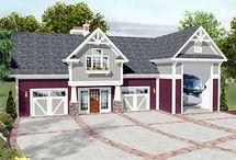 Large Garage House Combination