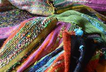 Saori weaving / My work.