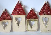 Christmas ceramic ornaments