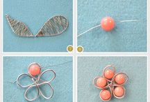 wire beads brooch
