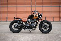 Triumph Bonneville T120 Bobber by BAAK Motocyclettes / a Triumph Bonneville T120 Black based custom Bobber project, designed and created at BAAK Motocyclettes workshop in France.