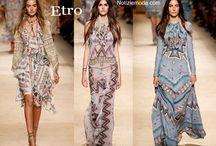Etro / Etro collezione e catalogo primavera estate e autunno inverno abiti abbigliamento accessori scarpe borse sfilata donna.