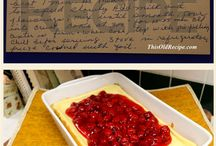 Old Fashioned Dessert Recipes