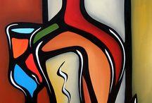 Patricia. Botellas y copas .