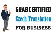 Grab Certified Czech Translation for Business
