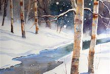 betulle nella neve