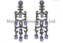 Gemstone Diamond Earrings Jewelry