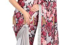 designer sarees or stylish