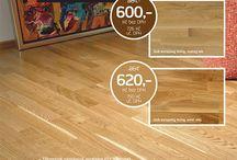 DŘEVĚNÉ PLOVOUCÍ PODLAHY / Vyrábí se v mnoha provedeních od tradičních dřevin ( dub, dub, jasan, javor) po exotické dřeviny ( merbau, jatoba, teak, bambus, americký ořech ). Ve spodní části nosné desky je umístěna třetí ( protitažná ) vrstva.  Podlahy vyráběné tímto způsobem jsou pak méně náchylné ke smršťování a bobtnání závislém na kolísání teploty a vlhkosti. http://podlahove-studio.com/content/8-drevene-plovouci-podlahy