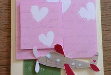Mine håndlavede kort / homemade cards by me