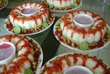 mesa de botana salada