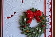 christmas cards 5 wreaths