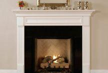 fireplace hampton style