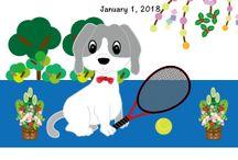 テニス庭球の年賀状