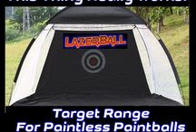 Paintball Target Shooting Range / The Paintball Target Shooting Range is great for Paintball Target Practice or just paintball shooting fun. Doesn't matter if you shoot 68 cal or 50 cal reusable reball paintballs...Both work fine! Has ball catcher too!