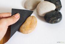 leštění kamínků