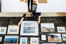 Hanging gallery wall