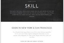 Websites / website layout designs