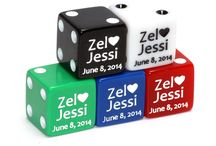 Wedding Favors / Commemorate your special day on Dice!