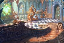 Magic worlds, castles and houses art