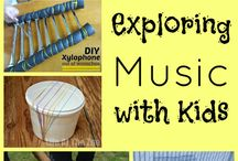 Exploring sound / different types of sound, instruments and instrument crafts, games with music etc.