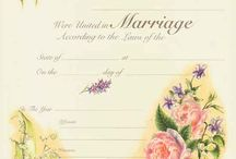 CERTIFICATES OF MARRIAGE / by River Stone, Ordained Wedding Officiant