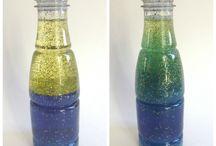 Discovery Bottles/Science in PreK / by Ellysa Dagen