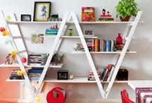 bookshelves / by Genie Norris of ColorGenie