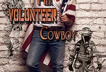 Book: Her Volunteer Cowboy / HER VOLUNTEER COWBOY Book 6: Tanner  http://www.amazon.com/dp/B014VLU76U Sparks reignite when one-nighters reunite. Can the firefighter/Guardsman convince the reforming bad girl she's worth fighting for, or will she leave before he finds the courage to volunteer his heart?