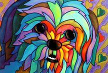 petit chien coloré