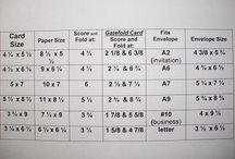 Card Making: Card Sizes