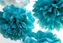 party turquoise and blu
