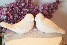 Love Birds / Wedding cake toppers, love birds!