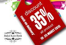 Info Pelanggan Bakul Kain Batik / Informasi untuk pelanggan bakul kain batik