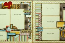 Scrapbooking double pagers