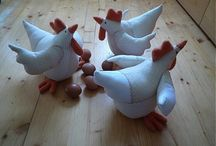 sliepka a kurčatá - hen, chicken