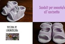 sandali per neonato all'uncinetto / video-tutorial per la realizzazione di un paio di sandali all'uncinetto per neonato/a