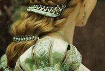 renessanse/middelalder hår