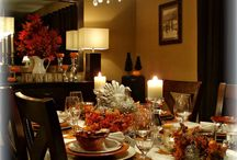 Thanksgiving Tablescapes / Thanksgiving Table Settings