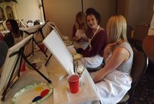 C & C Painting Events Photos! / This board showcases the fun and laughter taking place along with the artistic talents of my past Corks and Canvas guests!
