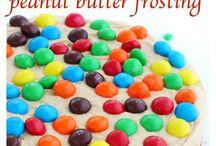 M&M peanut butter cake