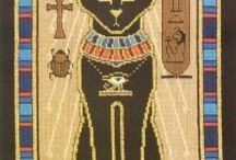 cross stitch Egypt