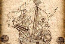 barcos y mapas