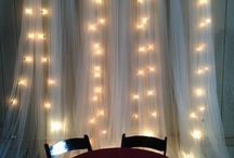 Fondos con tull y luces