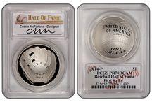 2014 BaseBall Hall Of Fame Silver Dollar / 2014 Baseball Hall Of Fame Silver Dollar