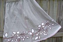 Stencil skirt