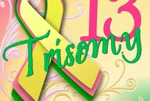 Trisomy 13 Syndrome Awareness Ribbon Gifts / Trisomy 13 syndrome uses a yellow, pink, and green awareness ribbon for its cause.  The colors represent yellow for joy, pink for love, and green for life.