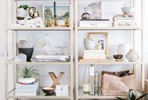 Arrangement shelves